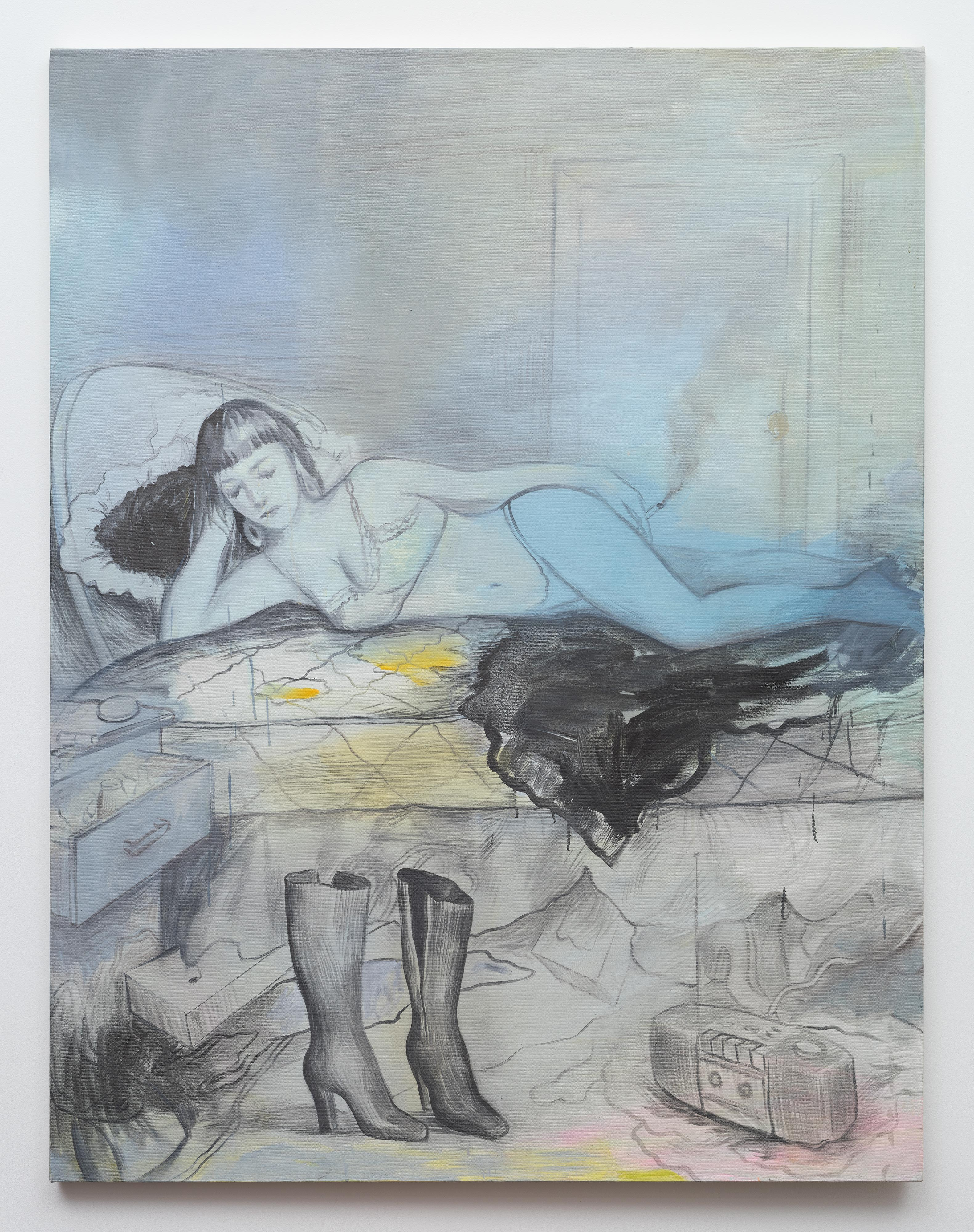 Brandi Twilley<br>Boots<br>2015<br>oil on canvas<br>62 x 48 in (157.48 x 121.92 cm)