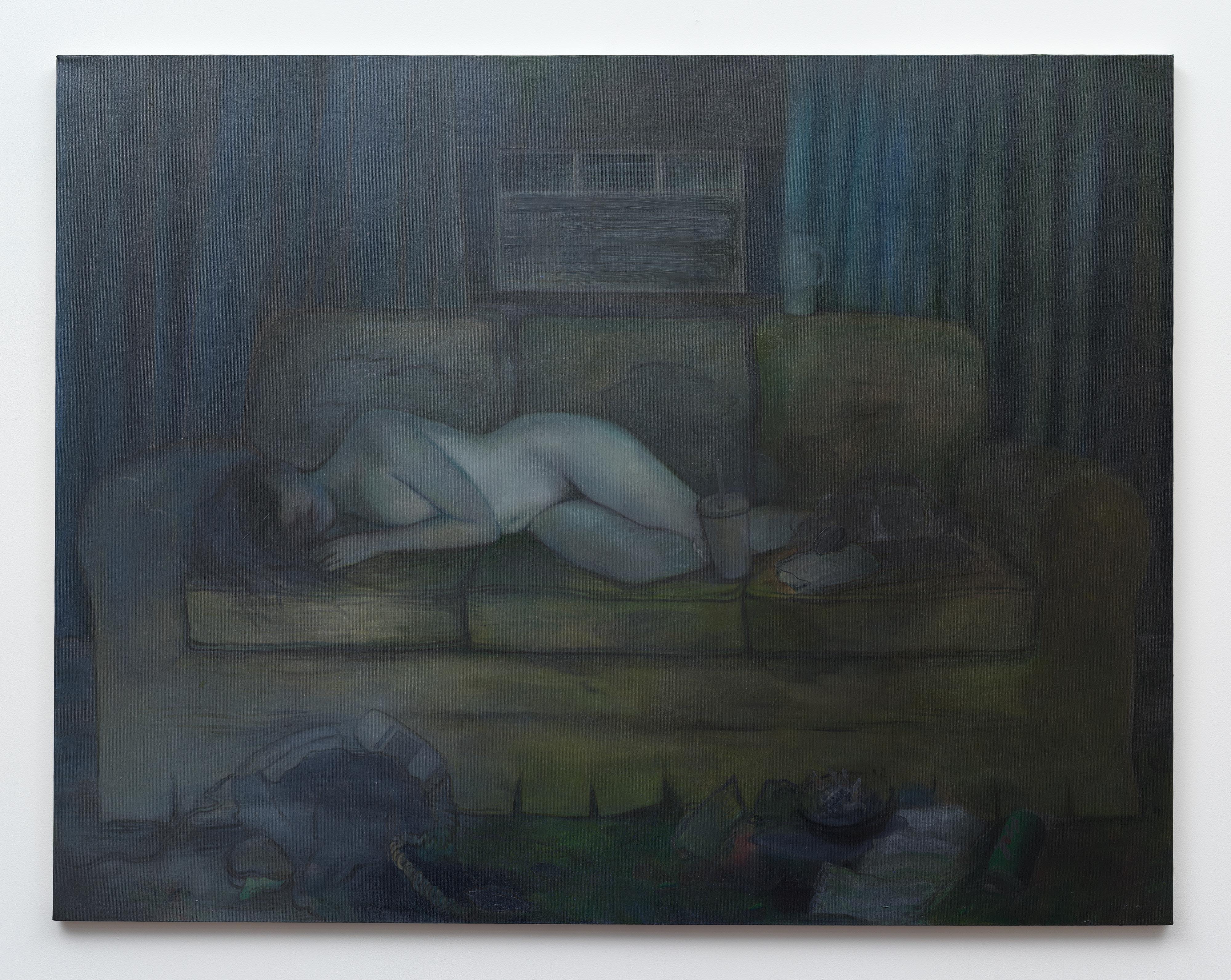 Brandi Twilley<br>Summer Night<br>2016<br>oil on canvas<br>48 x 62 in (121.92 x 157.48 cm)