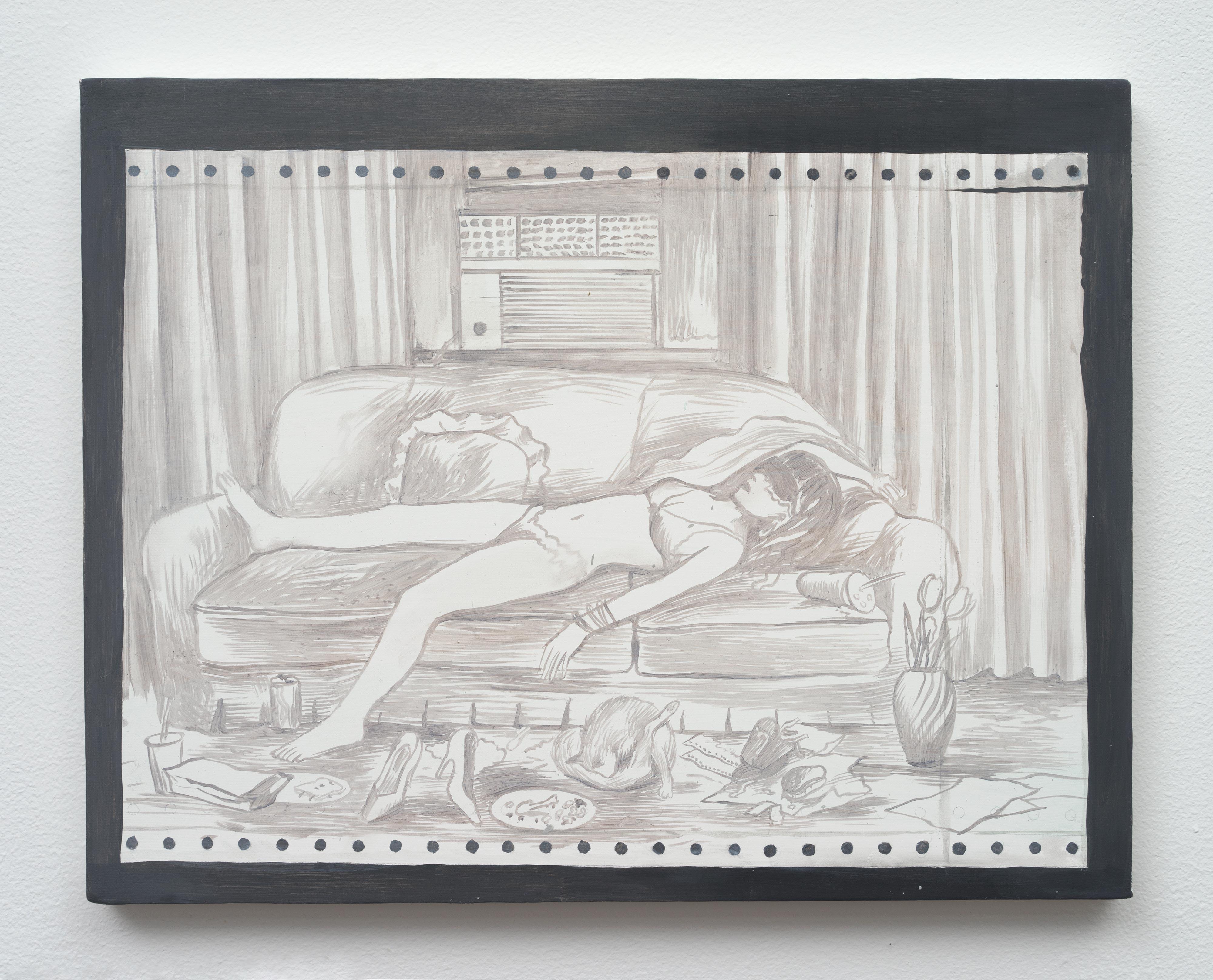 Brandi Twilley<br>By the AC<br>2014<br>oil on canvas<br>11 x 14 in (27.94 x 35.56 cm)