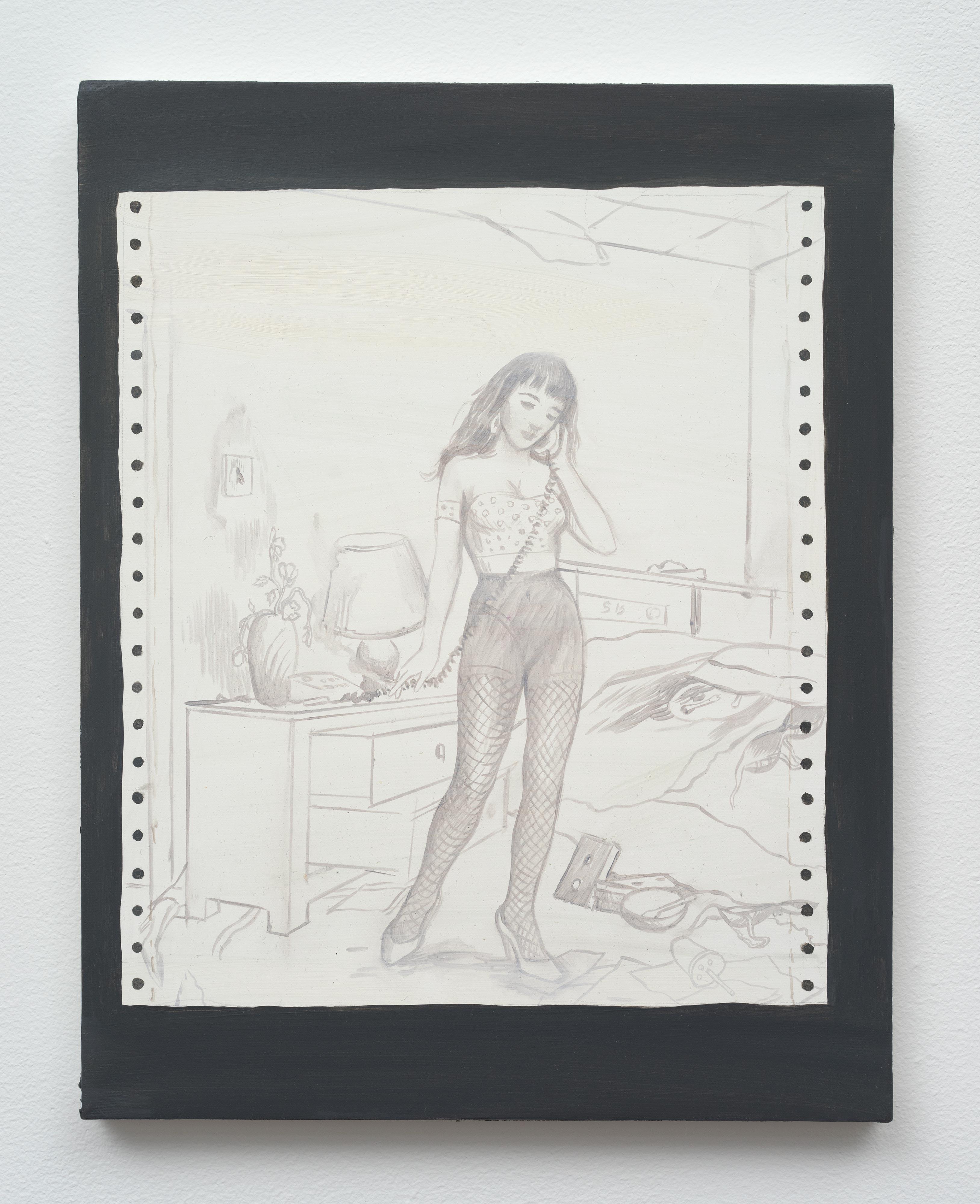Brandi Twilley<br>Fish Nets<br>2014<br>oil on canvas<br>14 x 11 in (35.56 x 27.94 cm)