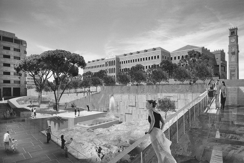 Manal Abu-Shaheen<br>Beirut Render #3<br>2017<br>Archival fiber inkjet print in artist frame<br>22 x 33 in