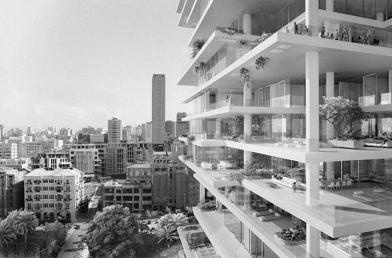 Manal Abu-Shaheen<br>Beirut Render #6<br>2017<br>Archival fiber inkjet print in artist frame<br>16 x 24 in