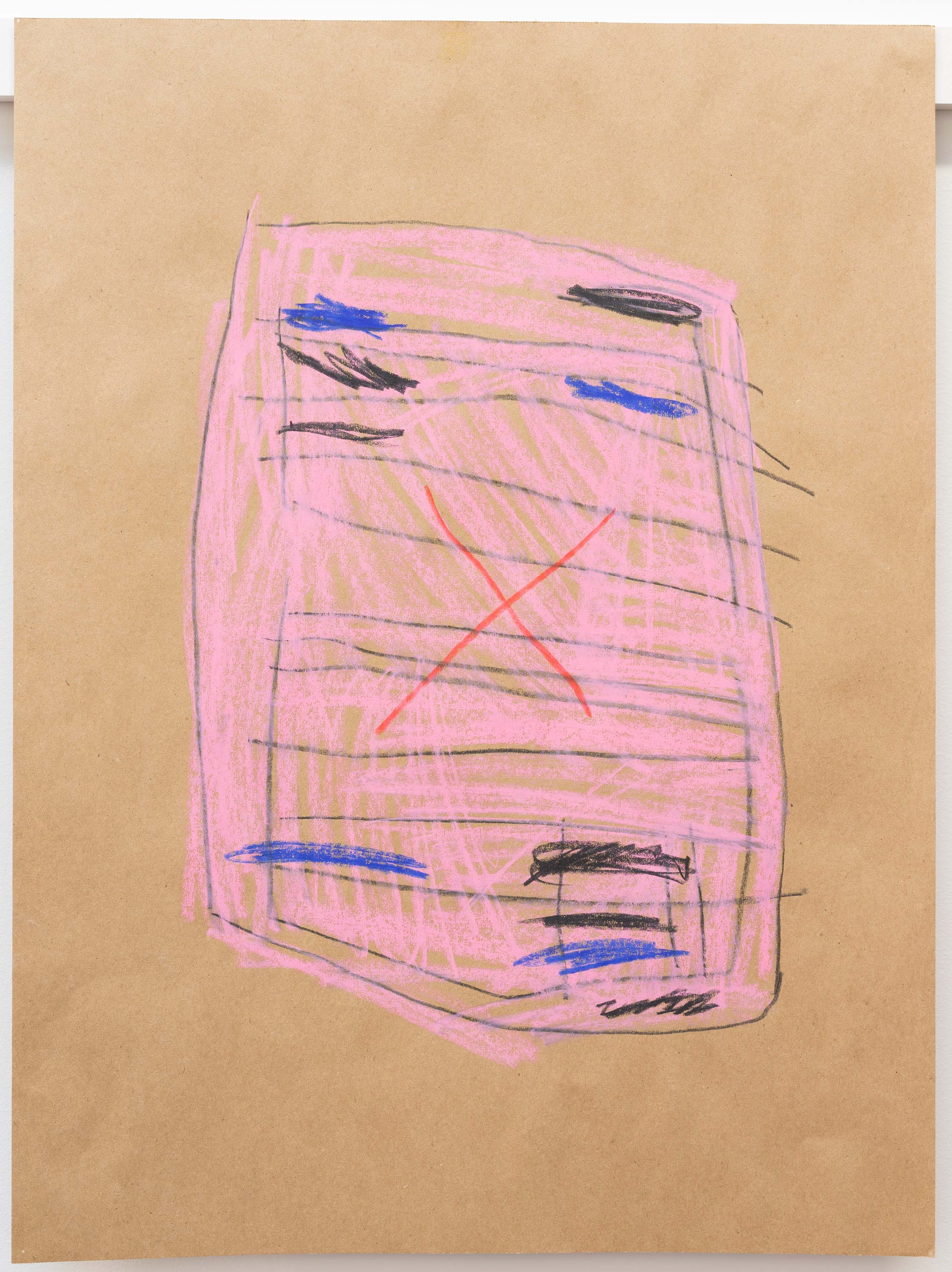 Al Freeman<br>Document pink 8<br>2015<br>Graphite and oil pastel on paper<br>18 x 24 inches (46 x 61 cm)