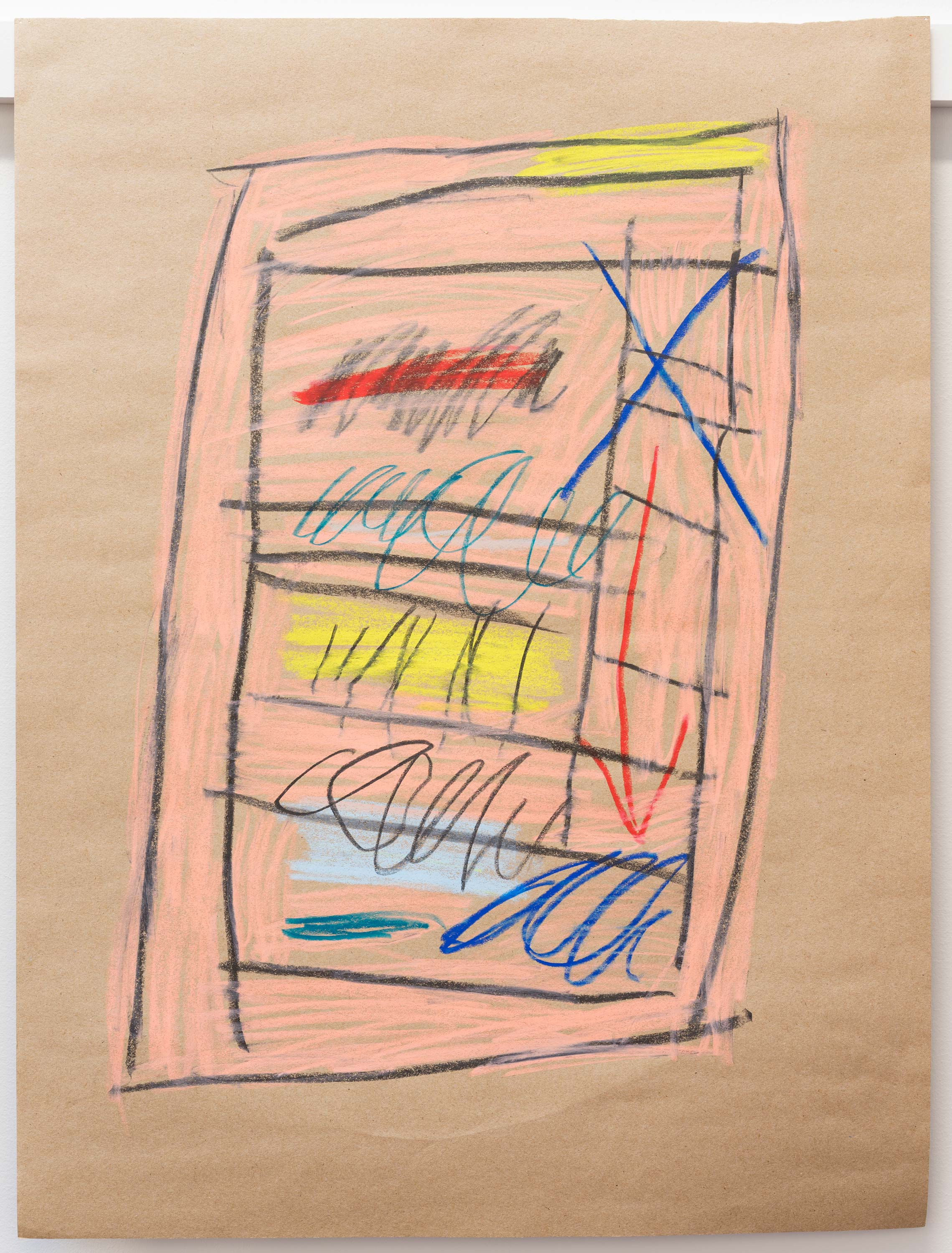 Al Freeman<br>Leaf 15<br>2015<br>Graphite and oil pastel on paper<br>18 x 24 inches (46 x 61 cm)