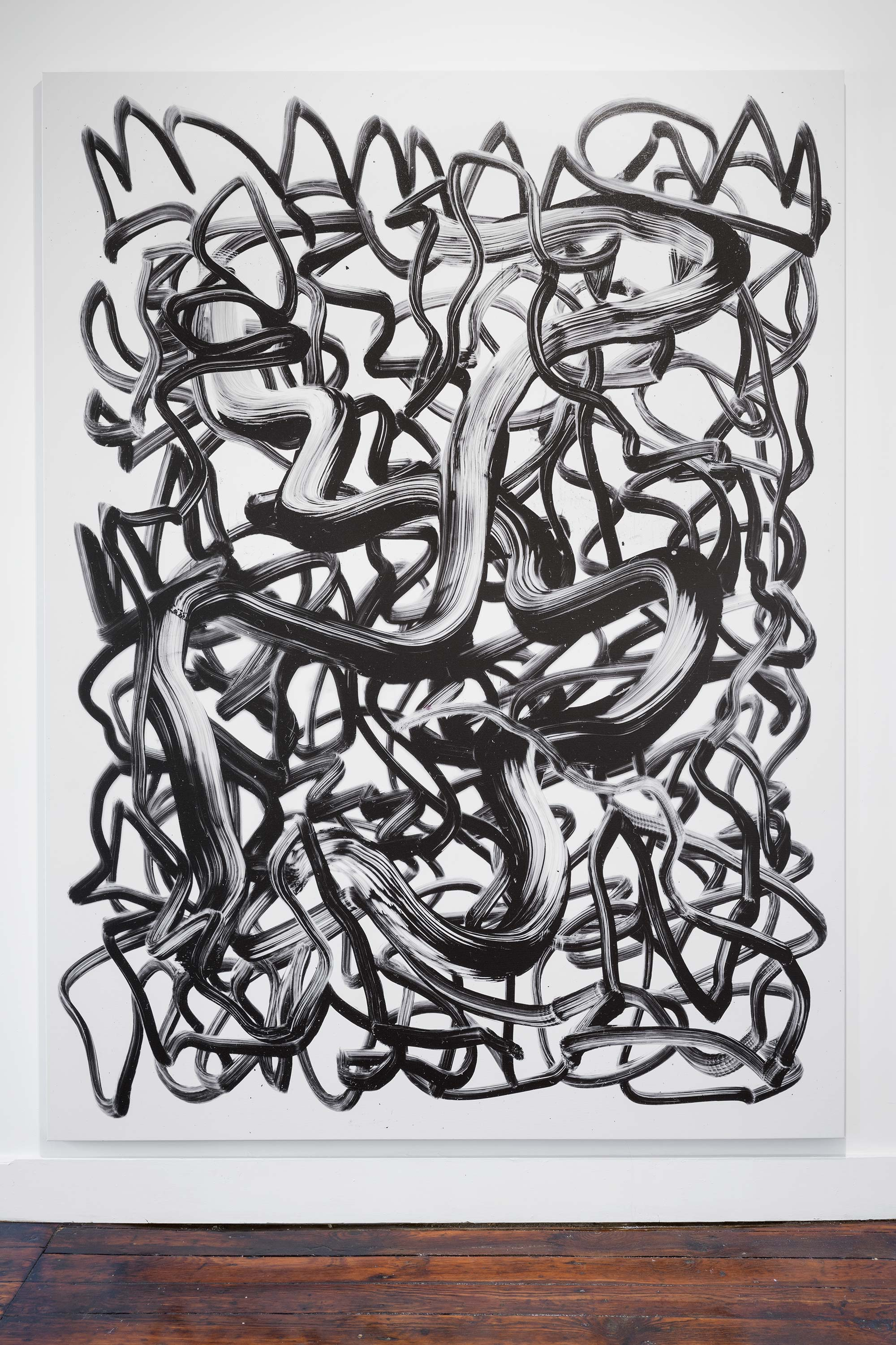 Fabio Marco Pirovino<br>Scribble (drawing) XXX<br>2015<br>UV Ink on Canvas<br>67 x 89 inches (170 x 227 cm)