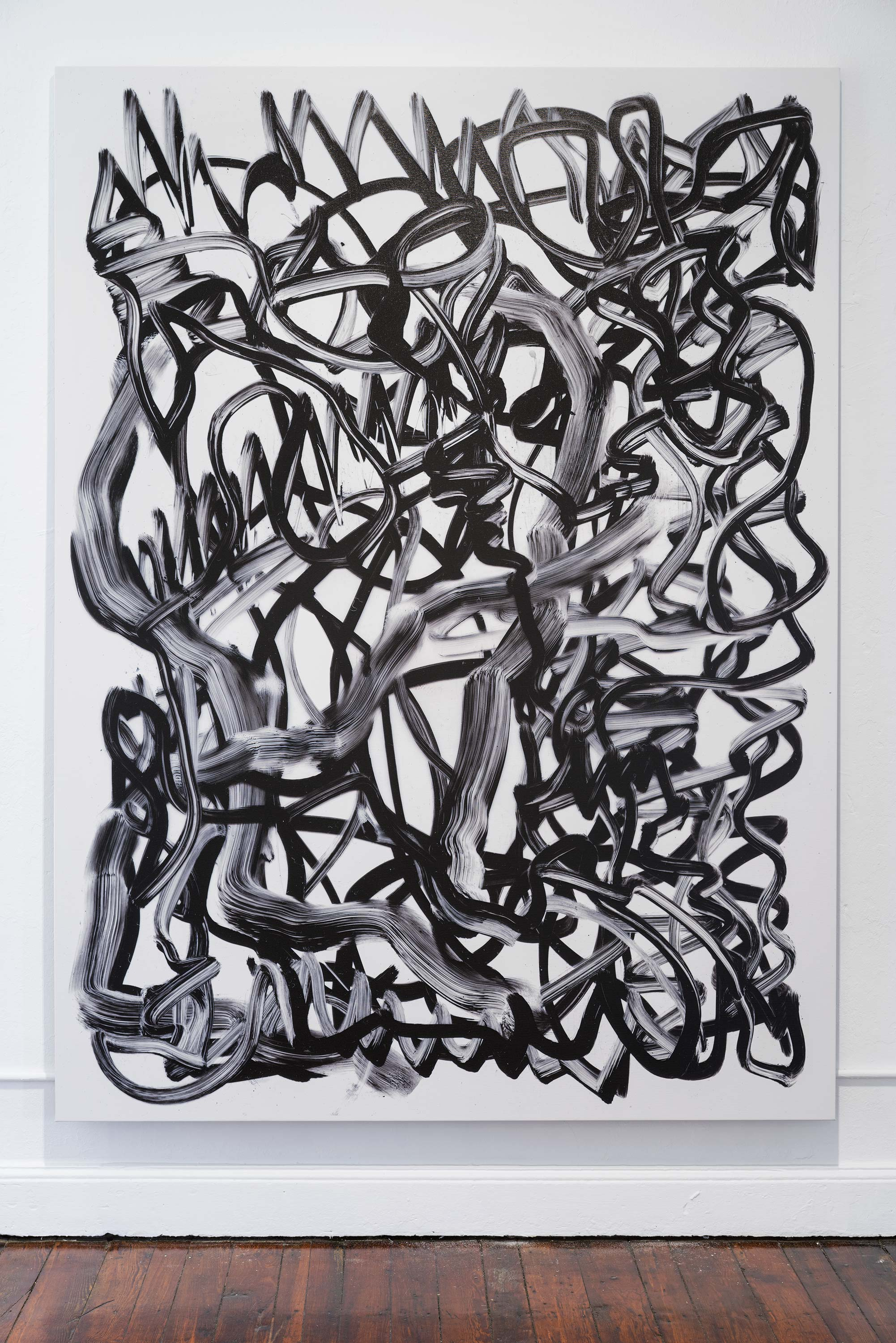 Fabio Marco Pirovino<br>Scribble (drawing) XXXIII<br>2015<br>UV Ink on Canvas<br>67 x 89 inches (170 x 227 cm)