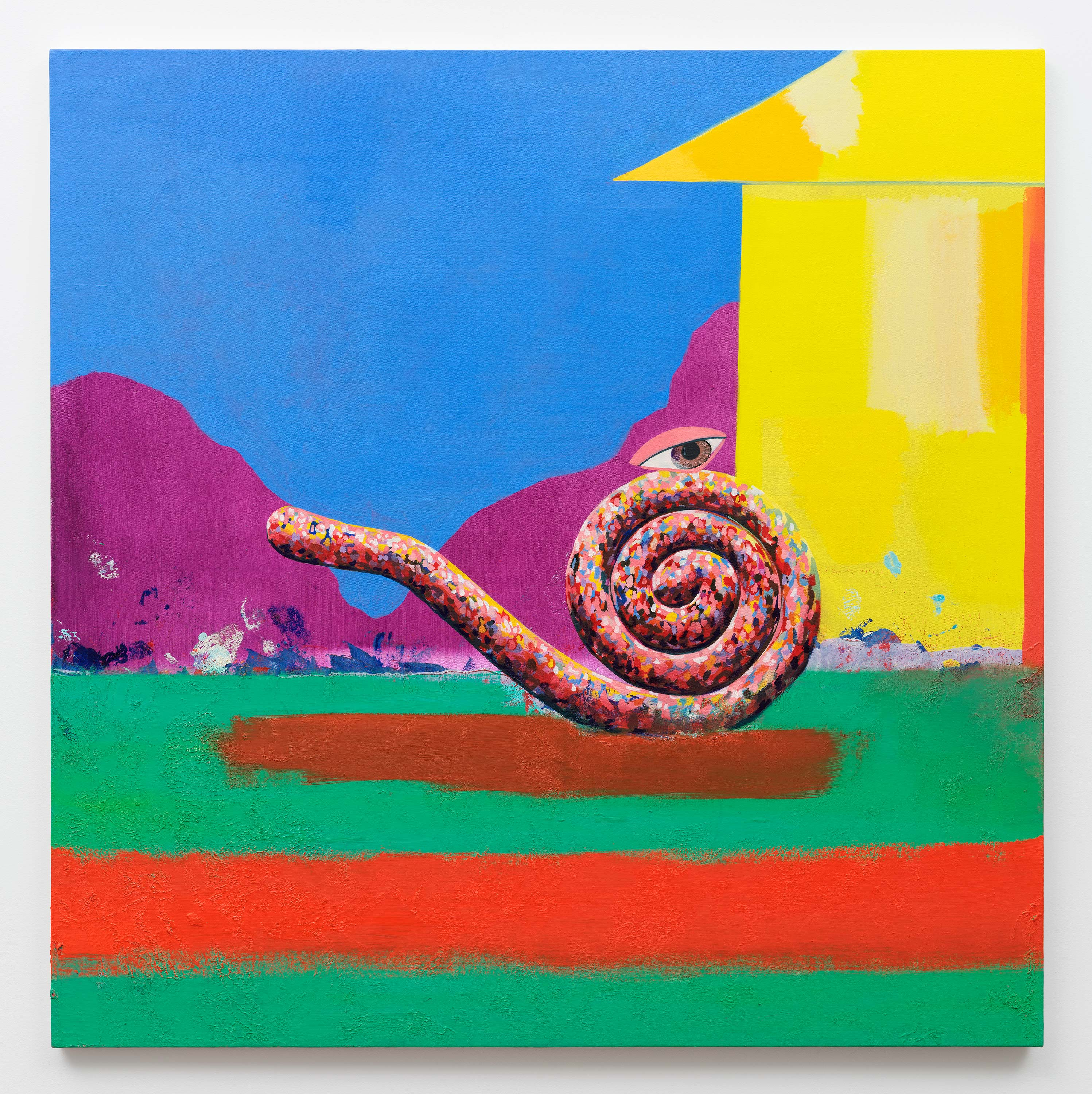Paul Branca<br>Untitled, Spiral<br>2015<br>Oil on canvas<br>40 x 40 inches (101.6 x 101.6 cm)