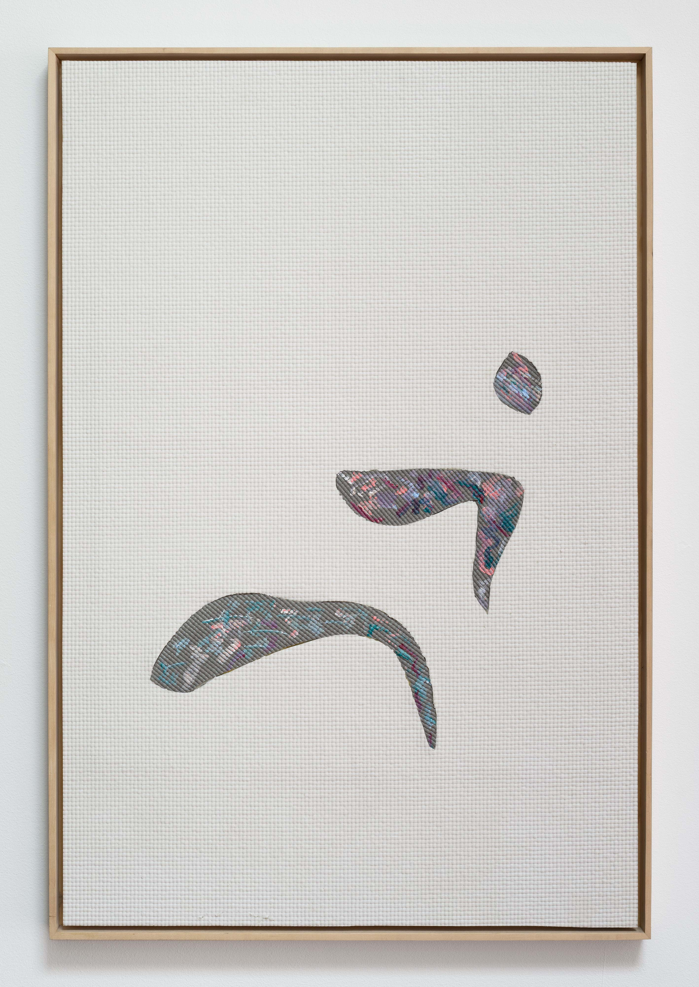 Alex Ebstein<br>Small Gestures<br>2013<br>PVC Yoga Mats and Acrylic<br>36 x 24 in (91 x 61 cm)