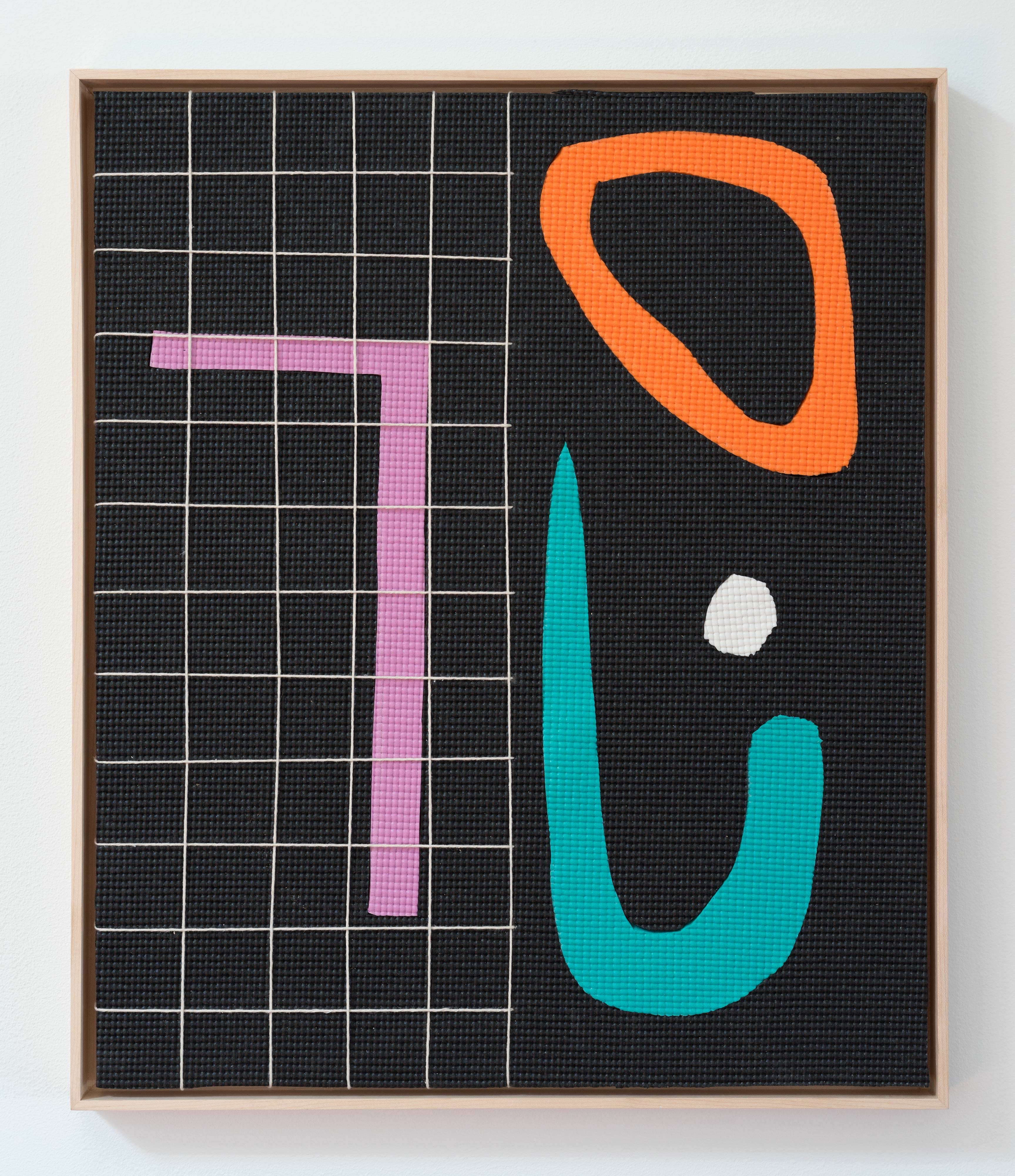 Alex Ebstein<br>Bright Lights<br>2016<br>Twine and PVC Yoga Mats<br>24 x 20 in (61 x 51 cm)