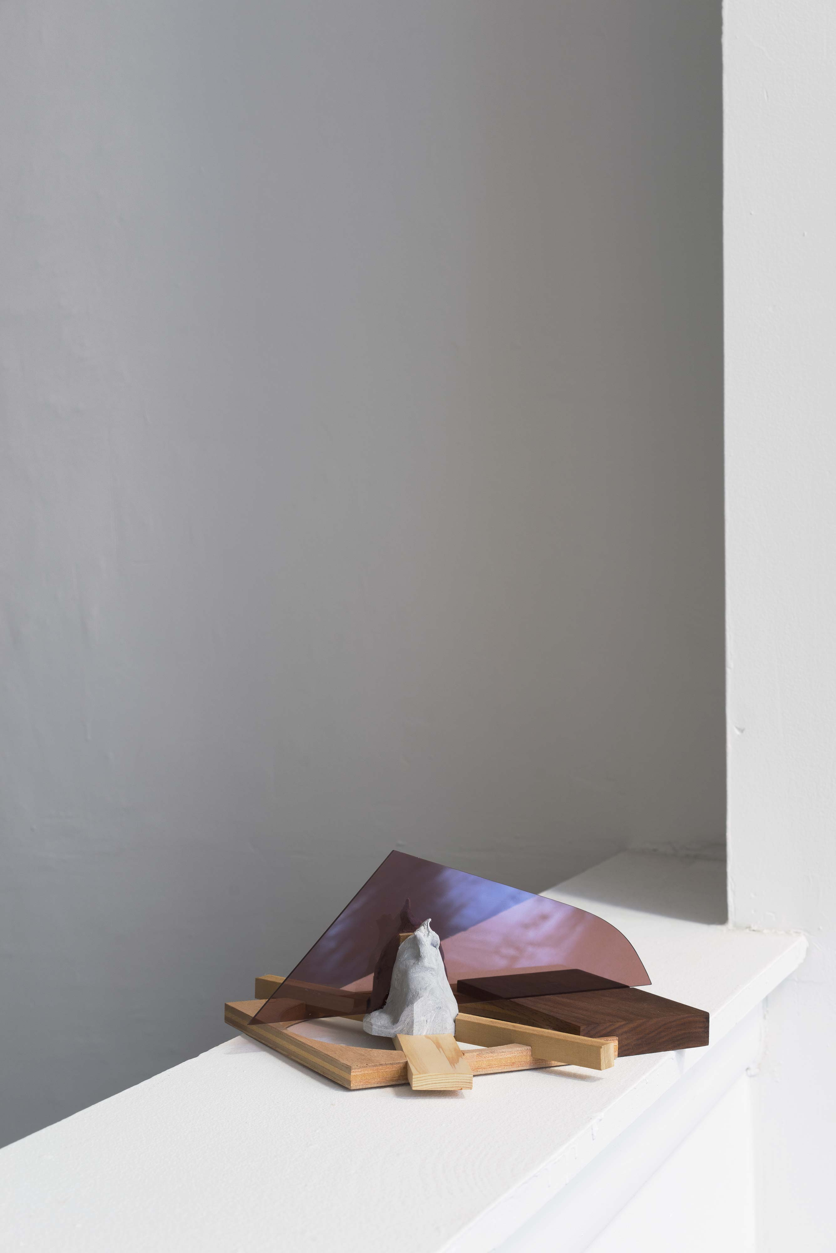 Krister Olsson<br>Campfire<br>2013<br>Wood, Acrylic, Clay<br>4.7 x 10 x 10.5 in (12 cm x 25 cm x 27 cm)