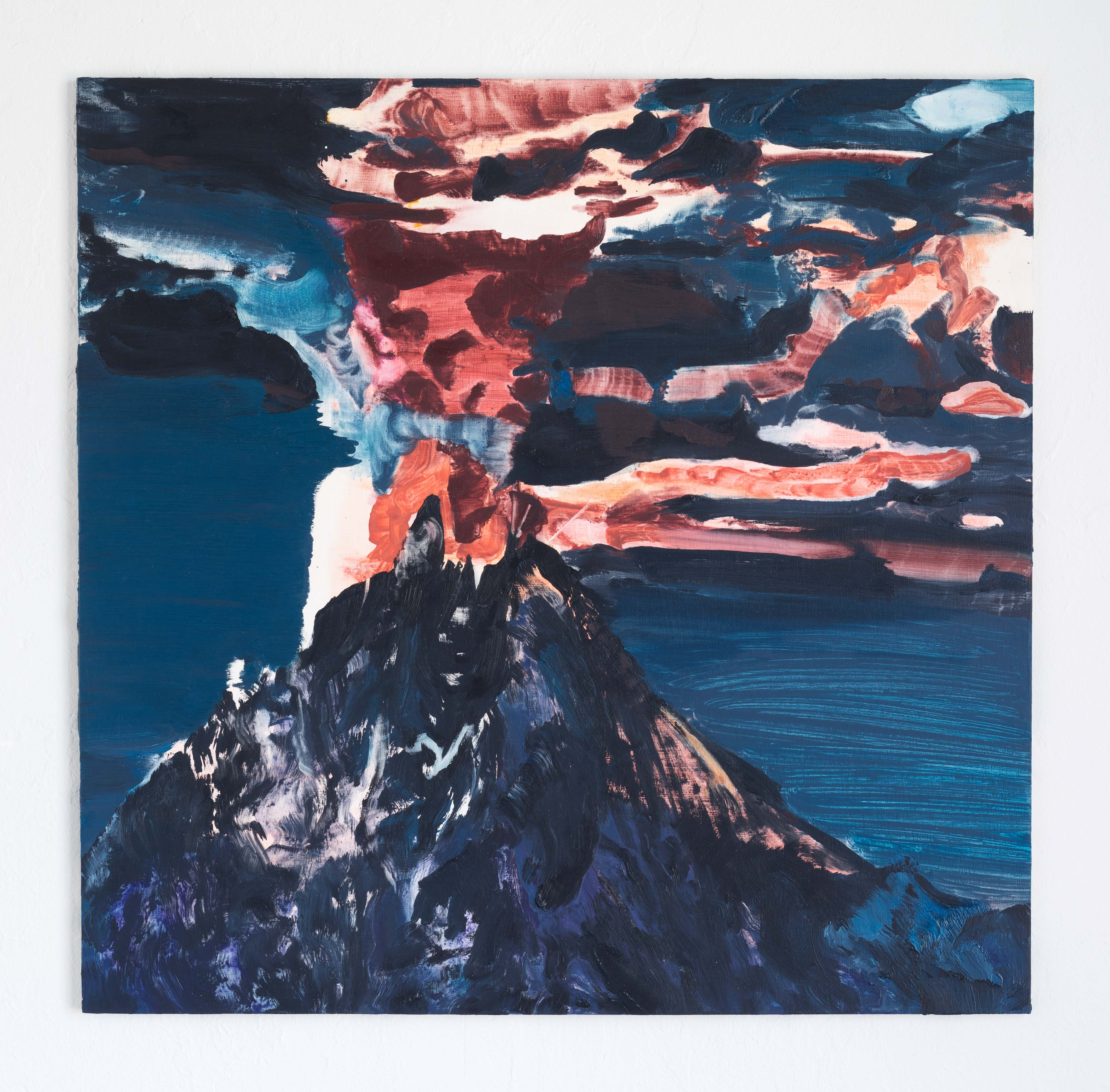 Laura Findlay<br>Magic Mountain<br>2015<br>Oil on Panel<br>24 x 24 in (61 x 61 cm)