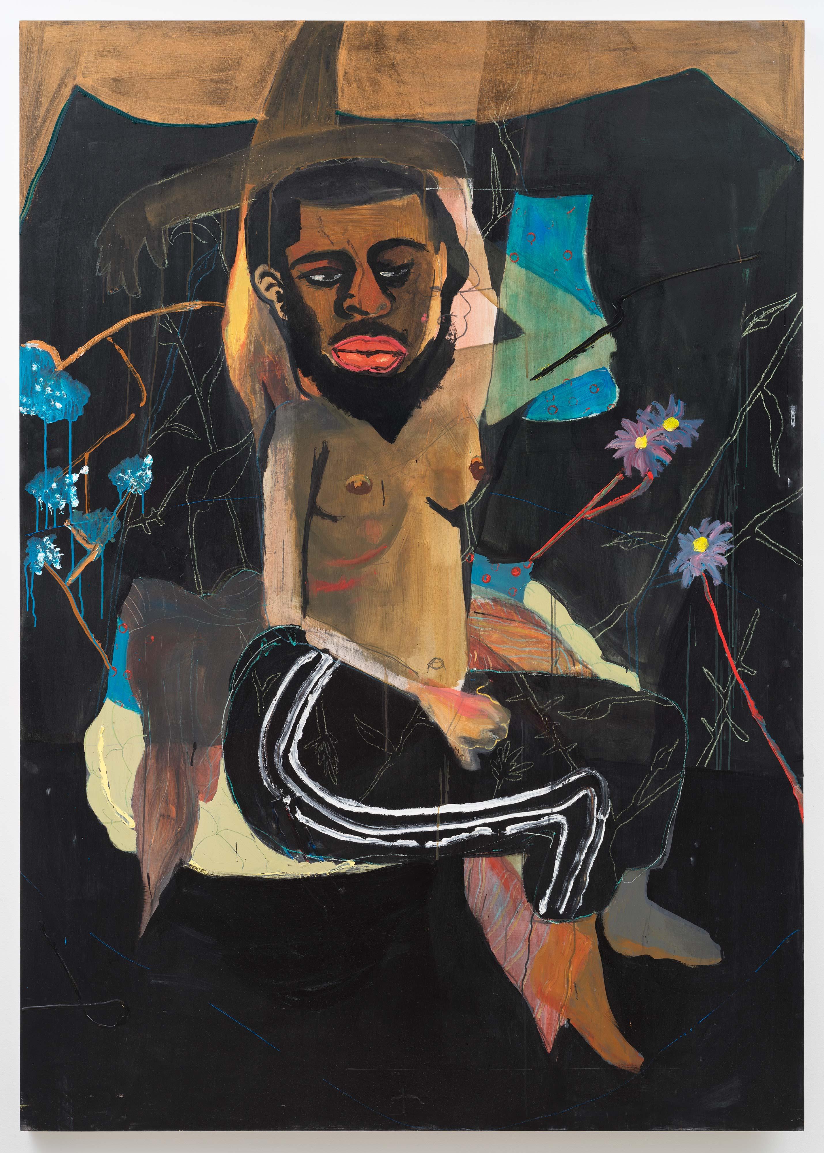 Jonathan Lyndon Chase<br>Hanged Man<br>2015<br>Acrylic on panel<br>84 x 60 in (213.4 x 152.4 cm)