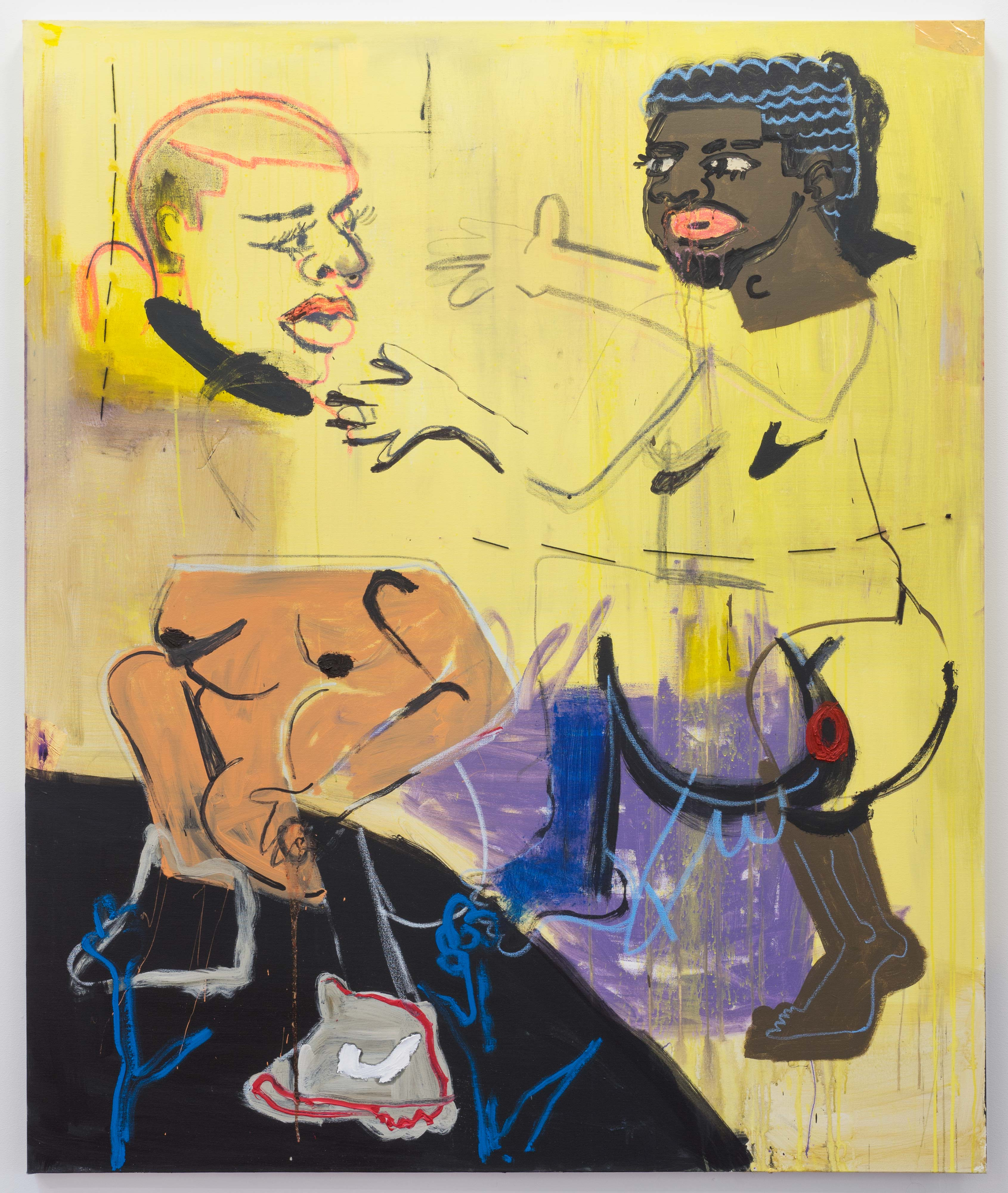 Jonathan Lyndon Chase<br>Here<br>2016<br>acrylic on canvas<br>72 x 60 in (182.88 x 152.4 cm)