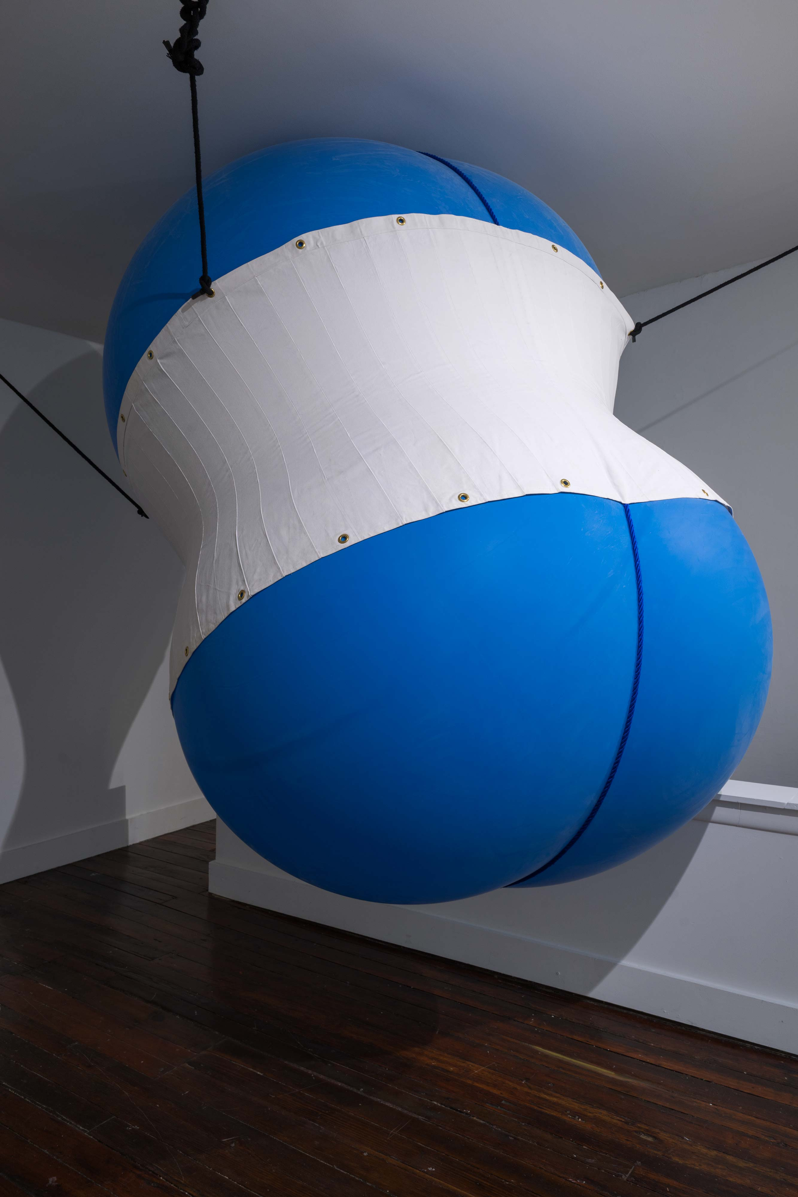 Nancy Davidson<br>Blue Moon (detail)<br>1998<br>Latex, rope, cotton<br>76 x 60 x 60 in (193 x 152 x 152 cm), installation variable