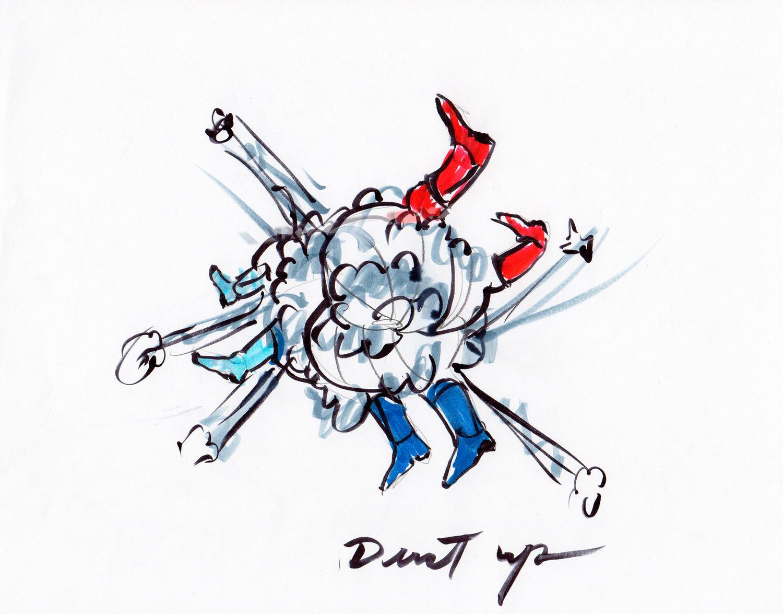 Nancy Davidson<br>Dust Up<br>2012<br>ink on paper
